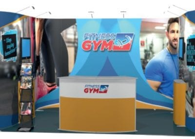 Fitness Gym, 4m x 3m, 1 side open